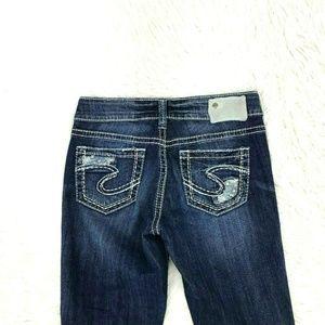 Silver Jeans Women Suki Capri Sz 26 X 25 17-5